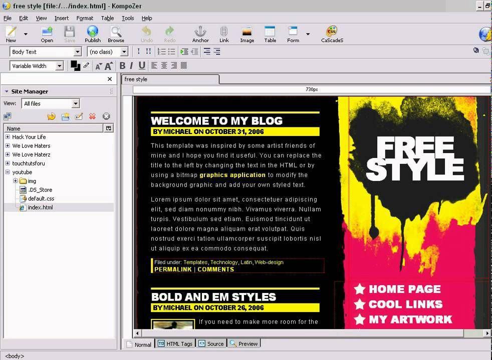 a6 review phan mem kompozer - KompoZer - Phần mềm thiết kế và quản lý nội dung website miễn phí được yêu thích nhất hiện nay
