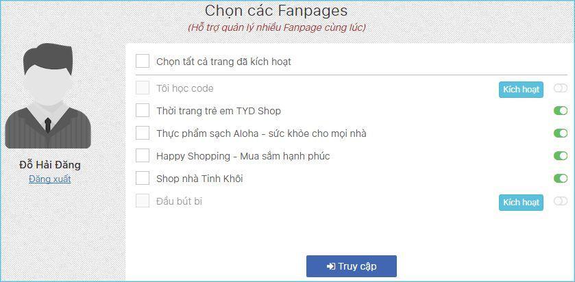 b3 review phan mem vpage  - Phần mềm quản lý bán hàng cực hiệu quả trên Facebook - VPAGE của Nhanh.vn