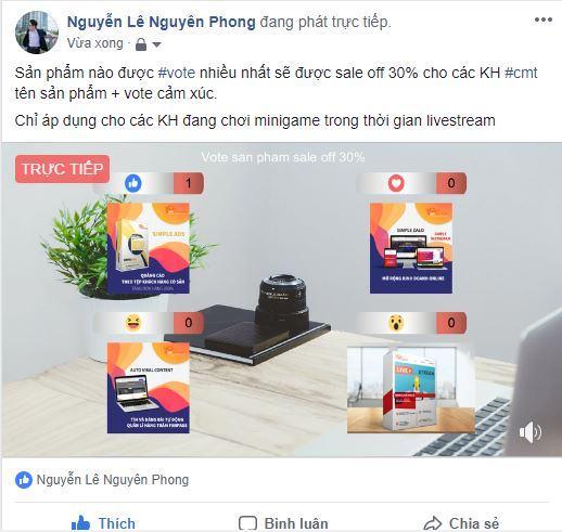 Phát livestream lên nick bán hàng Facebook