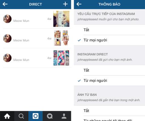 Direct giống như inbox giúp bạn bán hàng trên instagram hiệu quả hơn