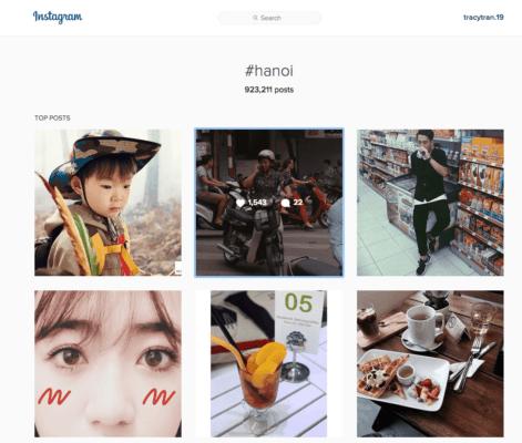 Dùng hashtag hanoi khi bạn muốn bán hàng trên instagram tại vùng Hà Nội