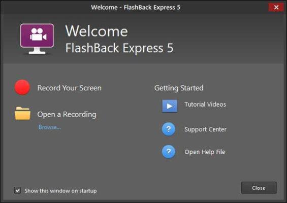 phần mềm quay màn hình máy tính Flashback Express