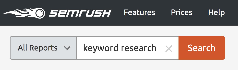 SEMRush - Tìm kiếm từ khóa