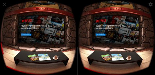 Màn hình đăng nhập Android Netflix VR