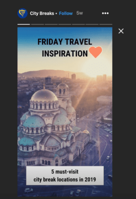 Ryanair City phá vỡ câu chuyện Instagram