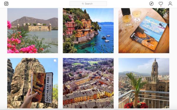 Nội dung du lịch trên Instagram