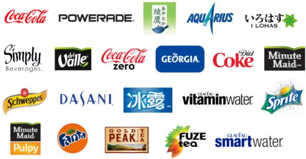 Logo thương hiệu 21 tỷ đô la của công ty Coca-Cola.