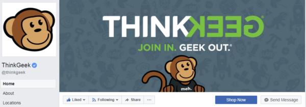 ThinkGeek ảnh bìa và banner