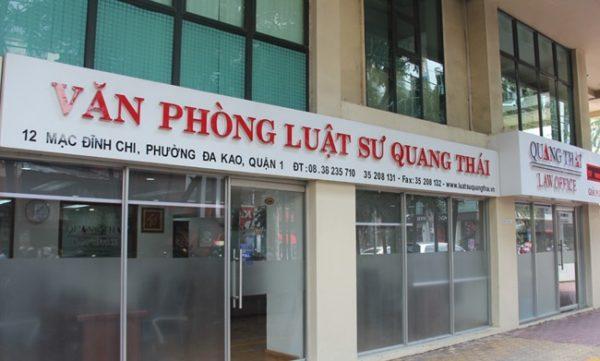 Văn phòng luật sư Quang Thái là Top 10 văn phòng / công ty luật uy tín nhất TP. Hồ Chí Minh