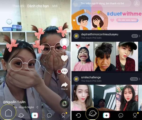 Tik Tok cho phép video sáng tạo từ nhiều quốc gia khác nhau (Nguồn:Congnghe.vn)