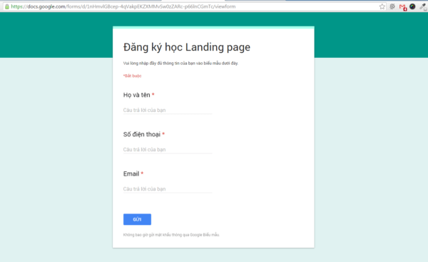Google Form Preview 2