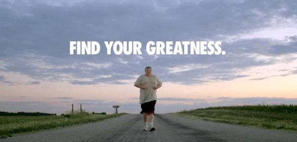 """Một hình ảnh trong clip quảng cáo cho chiến dịch """"Find Your Greatness"""" năm 2012 của Nike"""