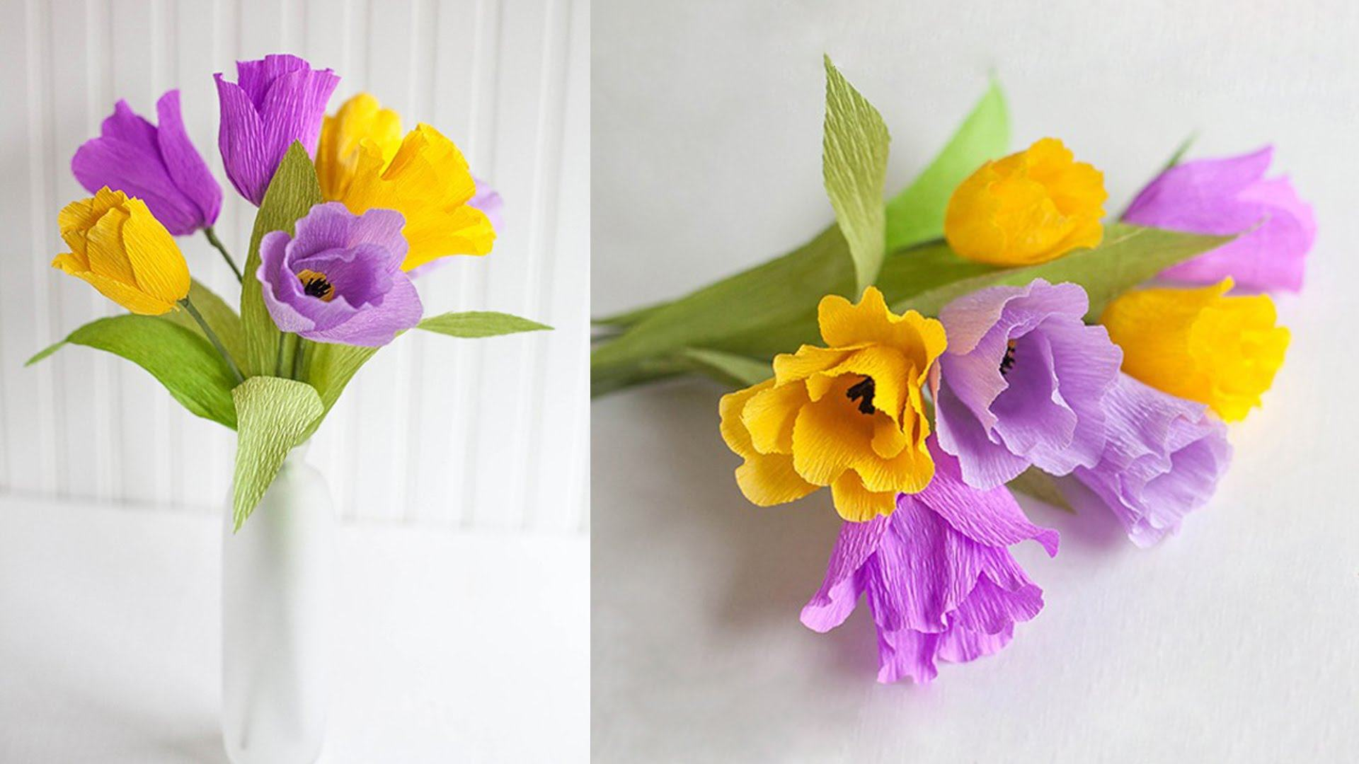 Hoa tulip từ giấy cực đẹp