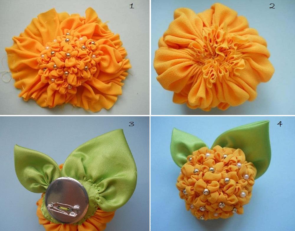 Làm hoa từ vải vụn đơn giản và độc đáo