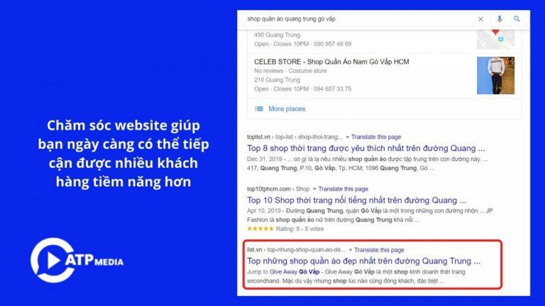 Tăng doanh thu khi chăm sóc website
